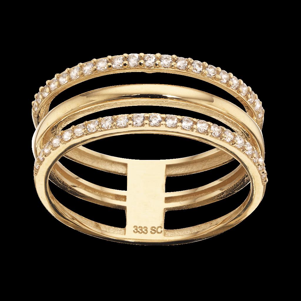 Image of   8 Karat Guld Ring fra Scrouples 710103