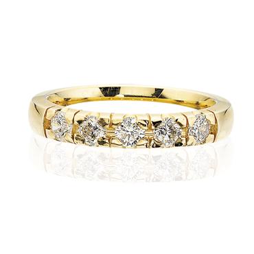 Image of   14 Karat Guld Ring fra Scrouples med Diamanter 0,35 Carat W/SI