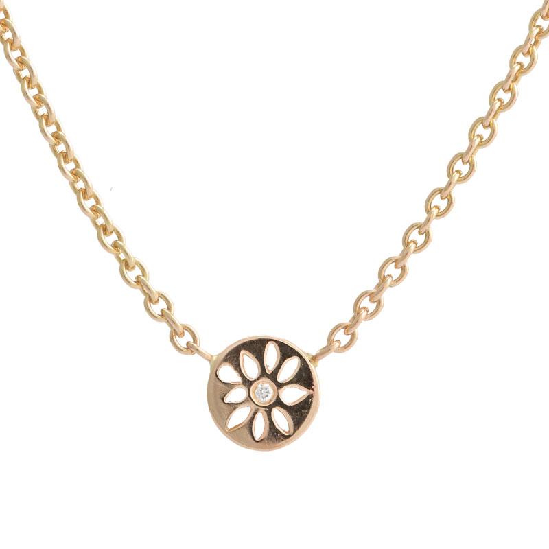 14 Karat Guld Halskæde fra Lene Visholm med Diamant 743