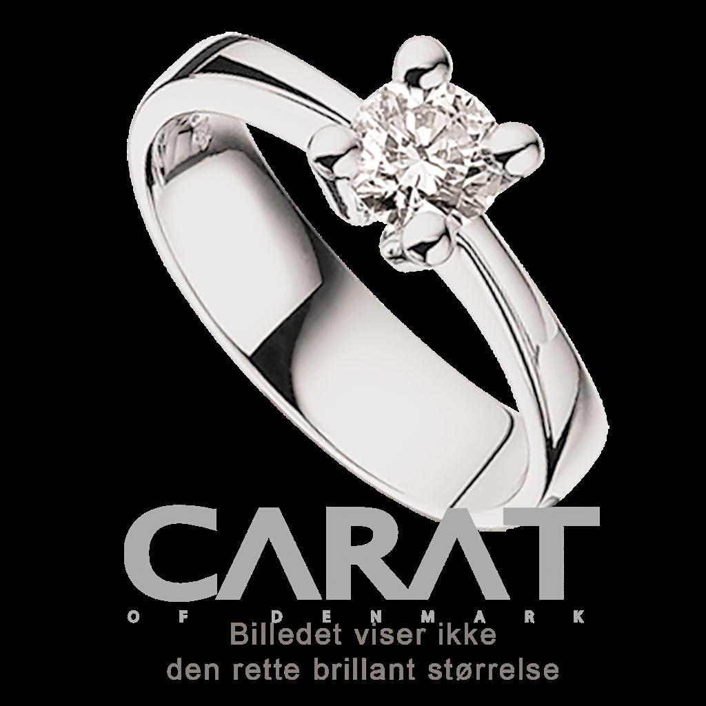 Carat Ring 0,35 ct. i 14 Karat Hvidguld fra Scrouples thumbnail