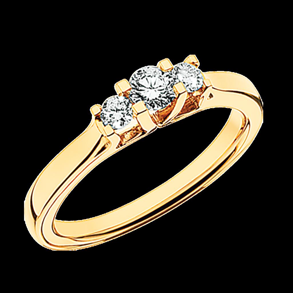 Zoya Ring 0,27 ct. i 14 Karat Guld fra Scrouples 7525,27