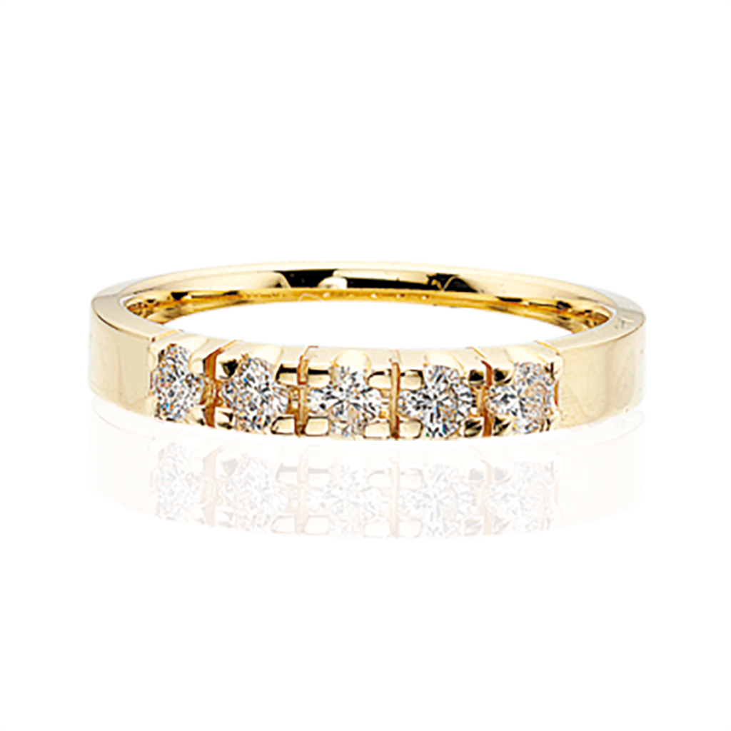 Scrouples Ring i 14 Karat Guld med Diamanter 0,04 Carat