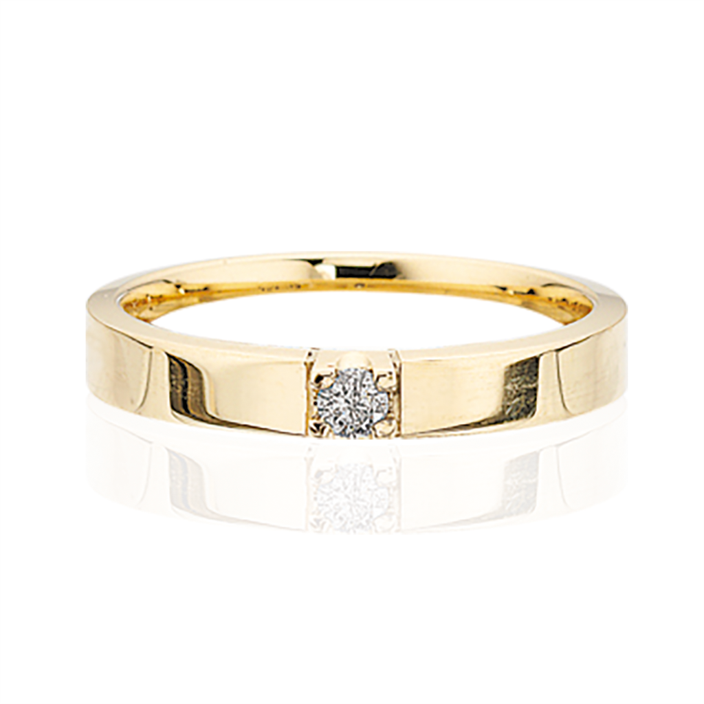 Image of   Alliance 14 Karat Guld Ring fra Scrouples med Brillant 0,07 Carat