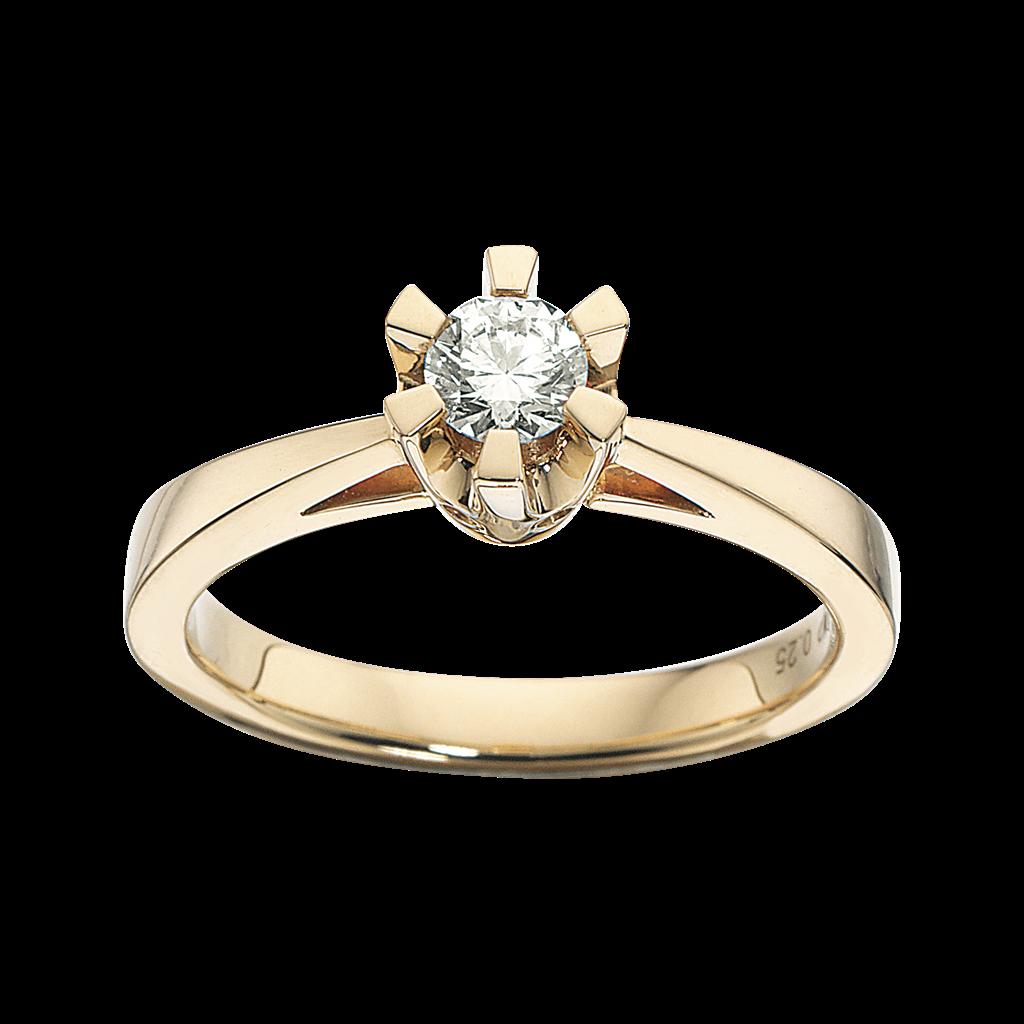 Prinsesse Ring 0,25 ct. i 14 Karat Guld fra Scrouples