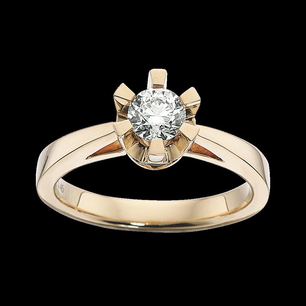 Prinsesse Ring 0,50 ct. i 14 Karat Guld fra Scrouples