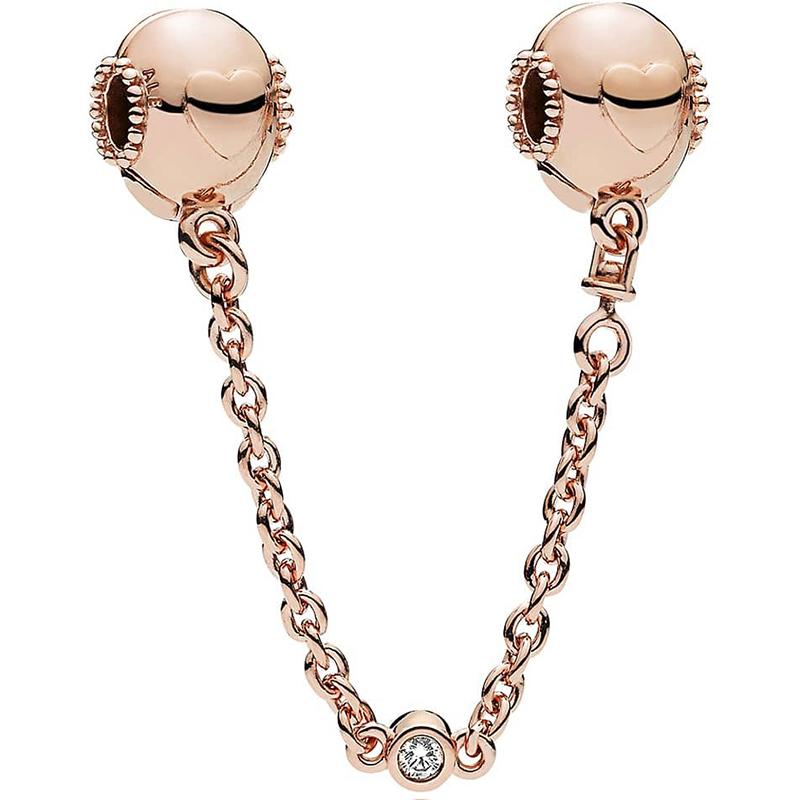 Embossed Hearts Rhodineret Sølv Armbånd fra Pandora