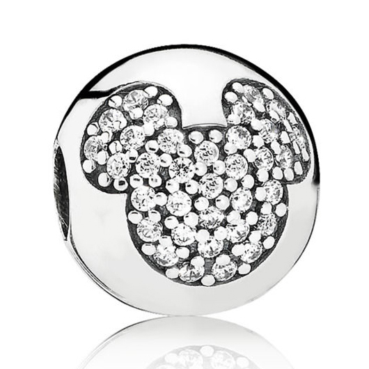 Pandora Disney Mickey Pave Vedhæng i Sterling Sølv