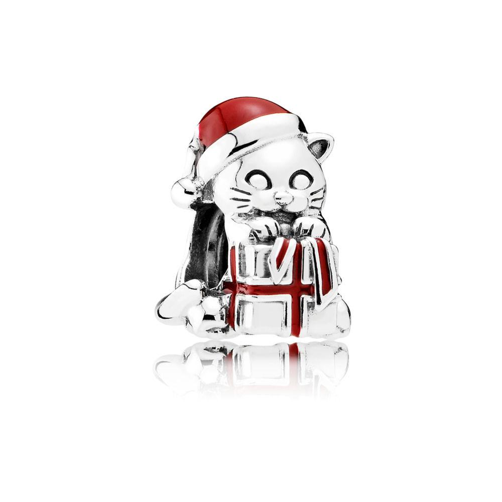 Julekat Sølv Vedhæng fra Pandora 792007EN39