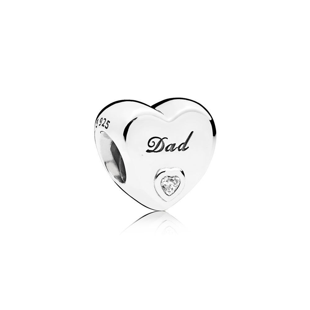 Pandora Hjerte Charm i Sterling Sølv 796458CZ