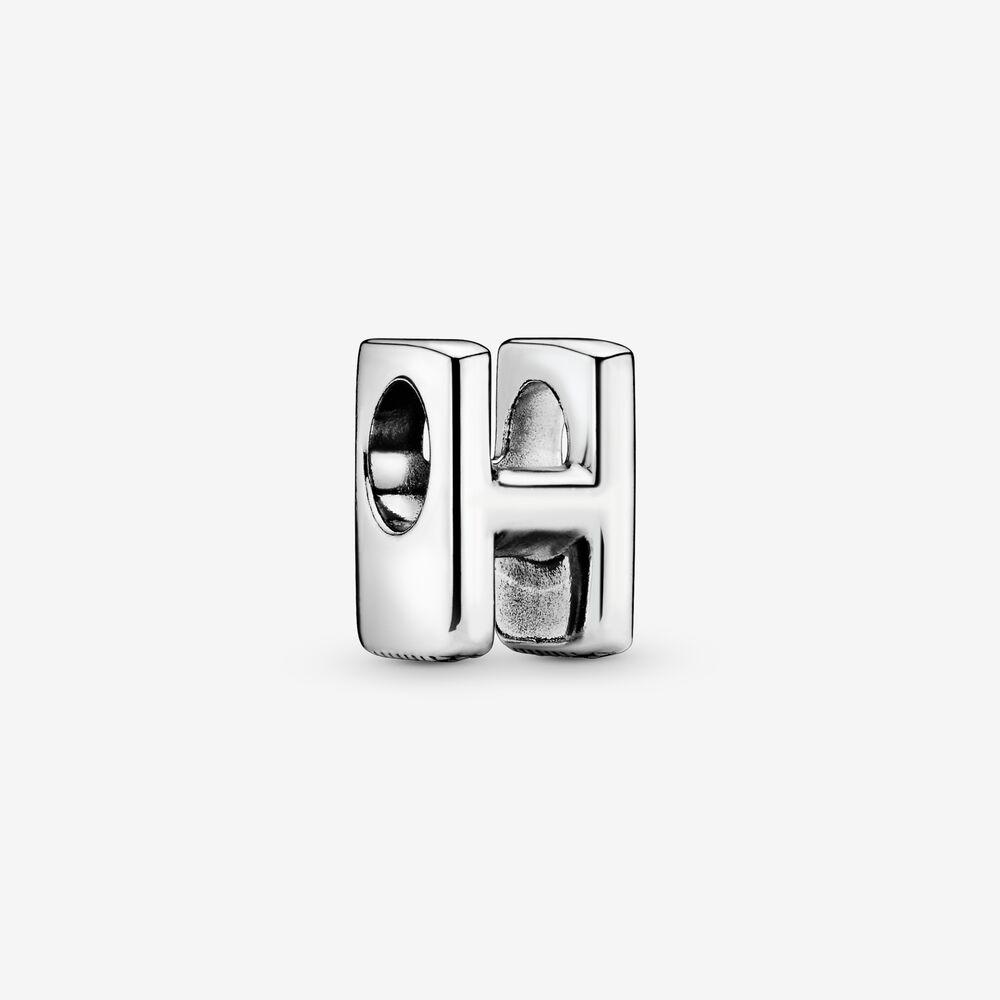 Pandora Alfabet H Charm i Sterling Sølv 797462 thumbnail