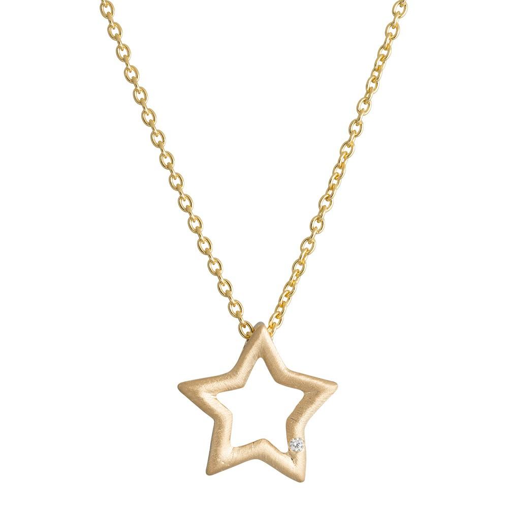Stjerne Sterling Sølv Halskæde fra Nordahl Andersen
