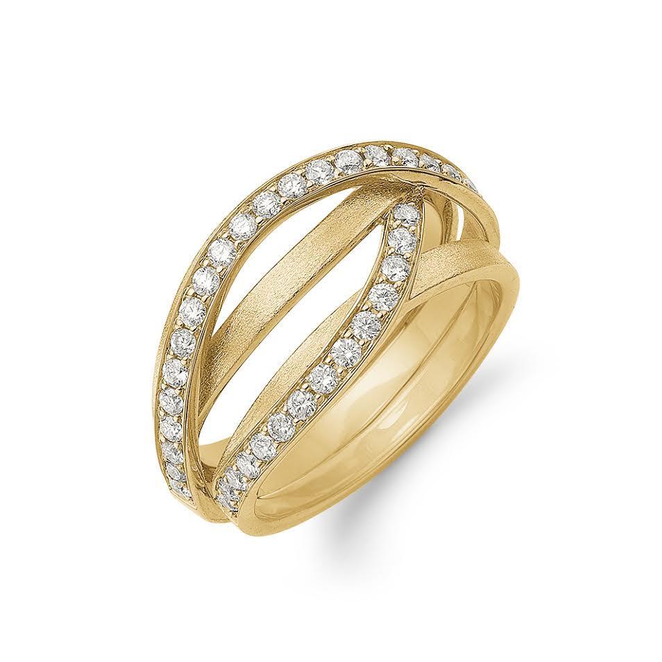 Image of   Aagaard 14 Karat Guld Ring med Diamanter 0,54 Carat