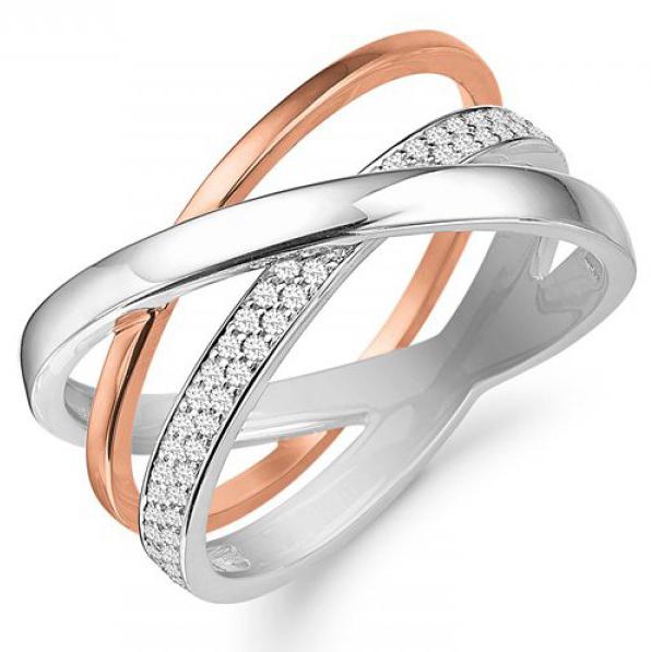 Image of   Aagaard ring i 14 kt hvidguld størrelse 65
