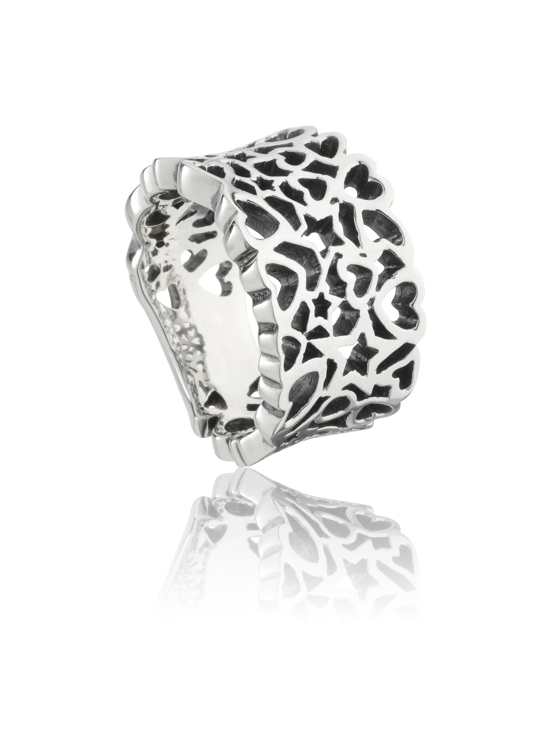 Star Heart Sterling Sølv Ring fra Smykkekæden DMR49 thumbnail