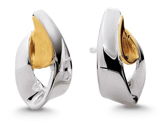 Aagaard Ørestikker i Sterling Sølv med 14 Karat Guld