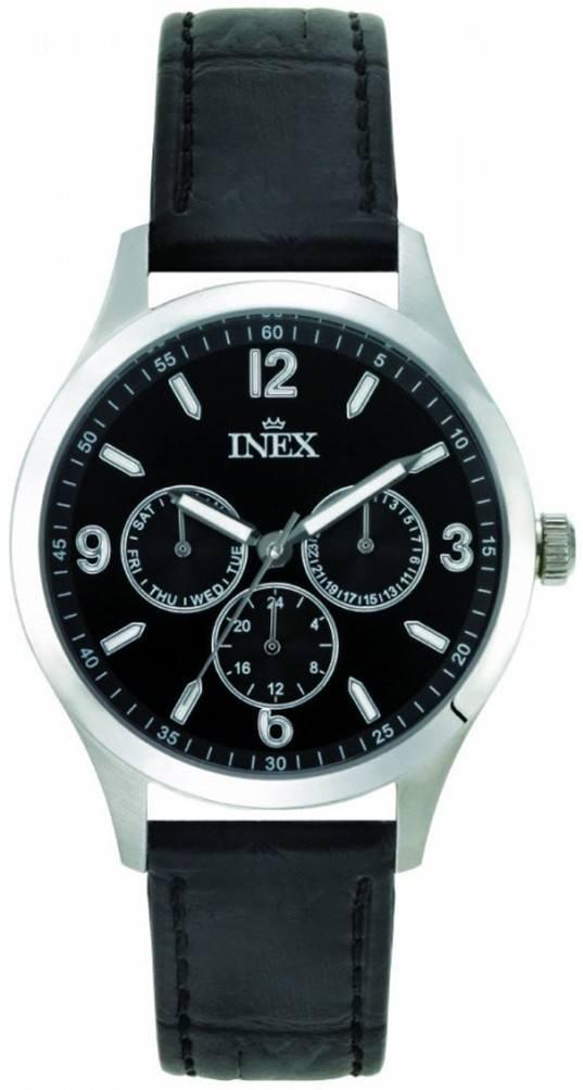 Inex Mens Black Ur til Herre A12162S5I