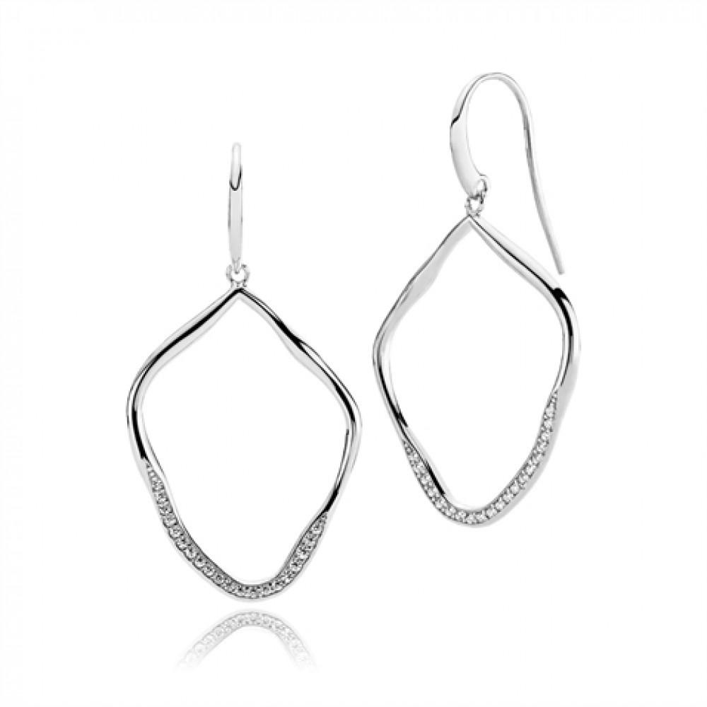 Imperfect Sølv Øreringe fra Izabel Camille A1456SWS