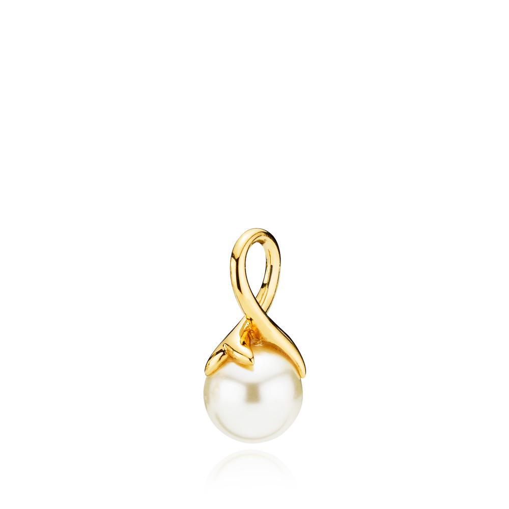 Izabel Camille Mermaid Vedhæng i Forgyldt Sølv med Swarovski Perle