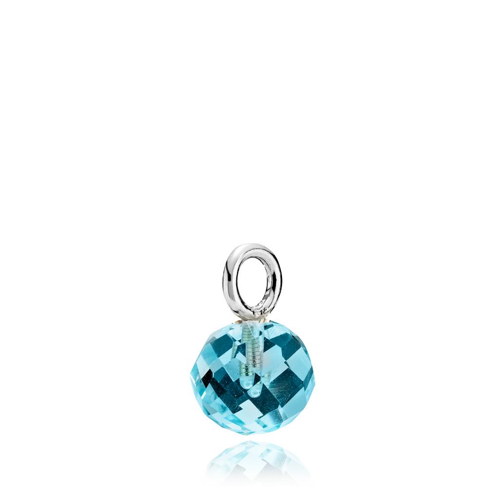 Marble Sterling Sølv Vedhæng fra Izabel Camille med Aqua Krystalglas