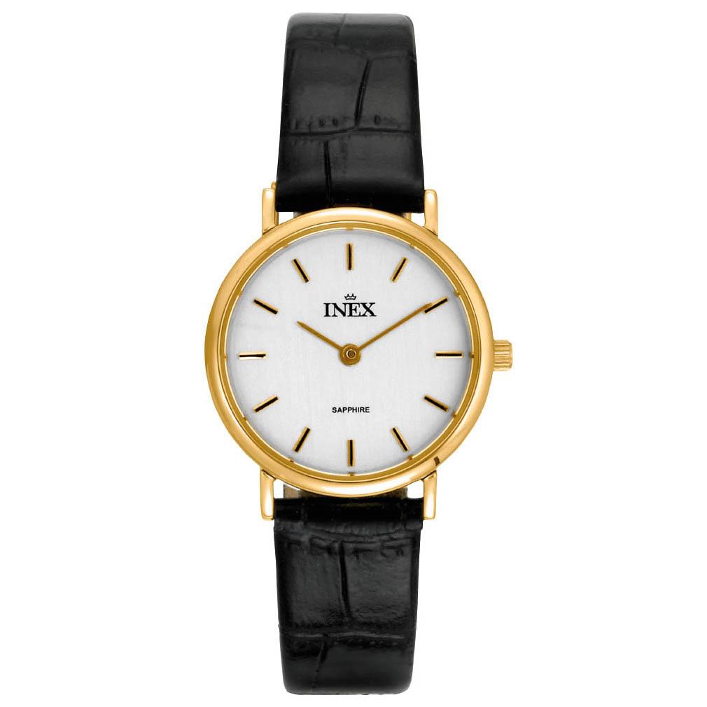 Ladies Golden Ur Fra Inex A69194D7I