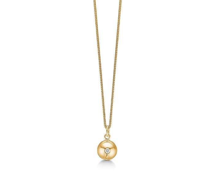 Aagaard 14 Karat Guld Halskæde med Diamant 0,02 Carat W/P1