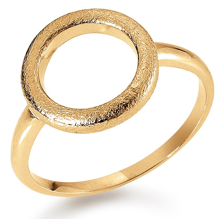 Image of   Aagaard 8 Karat Guld Ring med Cirkel 08611585