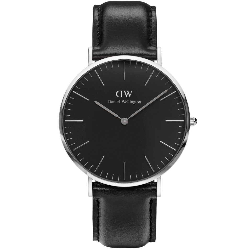 Classic Black Sheffield 40 MM Ur til Dame & Herre Fra Daniel Wellington ADW00100133