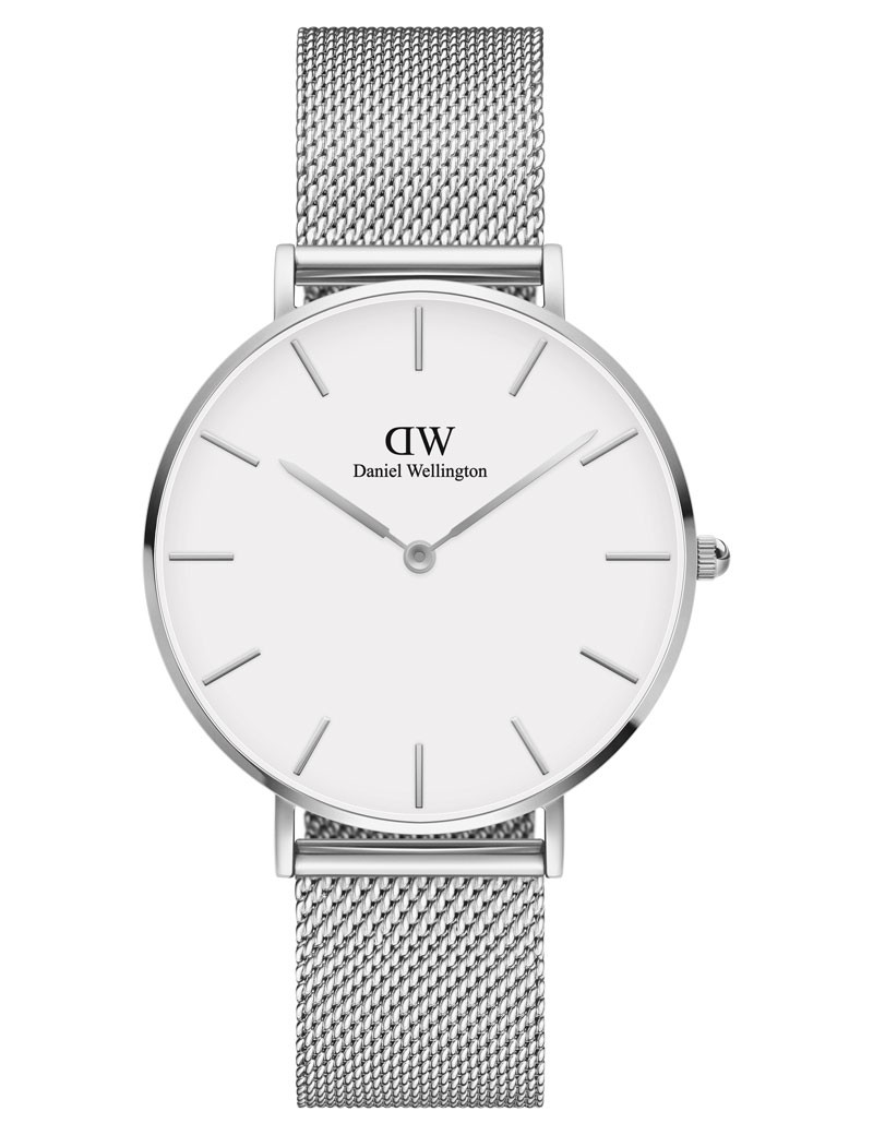 Image of   36 MM Petite Sterling White Ur til Dame Fra Daniel Wellington ADW00100306