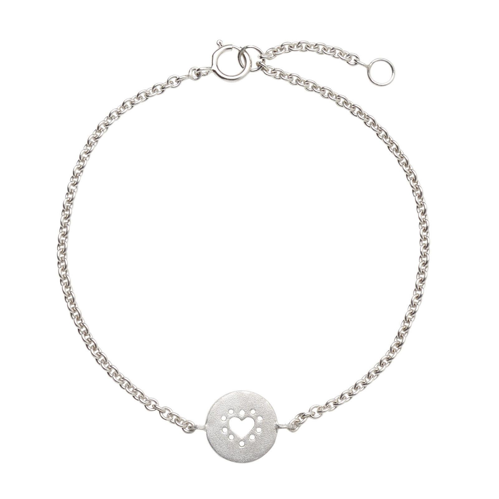 Hjerte Sølv Armbånd B.1219RH