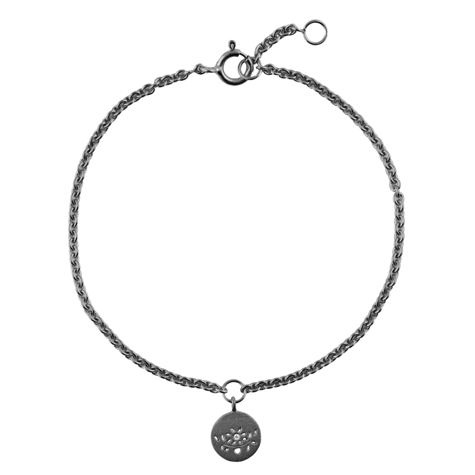 Lene Visholm Armbånd i Sortrhodineret Sølv B.1254SRH