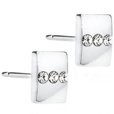 Blomdahl Triple Crystal ørestikker