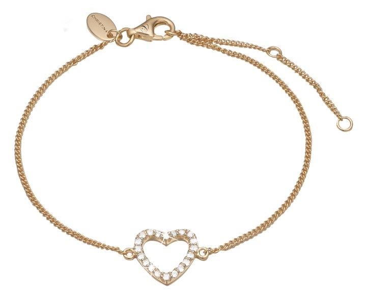 Topas Heart Forgyldt Sølv Armbånd fra Christina Watches