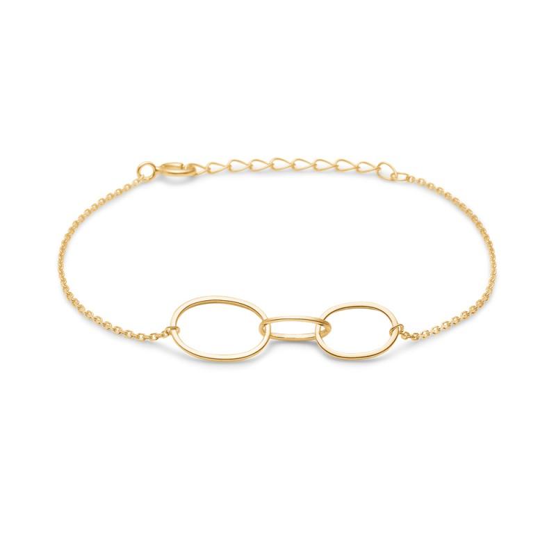 Connected 8 Karat Guld Armbånd fra Mads Ziegler 3350136