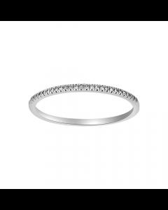 Heart 14 Karat Hvidguld Ring fra Nordahl Andersen med Brillanter 0,05 Carat W/SI
