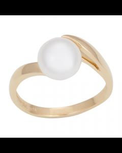 Nordahl Andersen Ring i 14 Karat Guld med Ferskvandsperle