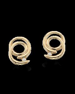 Scrouples 14 Karat Guld Ørestikker med Diamanter 0,02 Carat H-W/SI