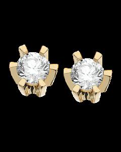 Scrouples Prinsesse Ørestikker i 14 Karat Guld med Diamanter 0,34 Carat W/VVS
