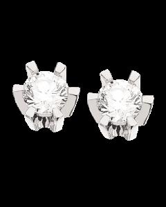 Scrouples Prinsesse 14 Karat Hvidguld Ørestikker med Diamanter 0,34 Carat W/VVS