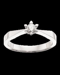 Victoria Ring 0,15 ct. i 14 Karat Hvidguld fra Scrouples