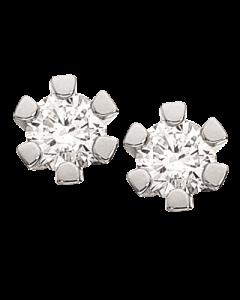 Scrouples Vida 14 Karat Hvidguld Ørestikker med Diamanter 0,15 Carat H-W/P1