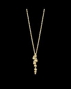 Georg Jensen Moonlight Grapes 18 Karat Guld Halskæde med Diamanter 0,05 Carat TW/VS