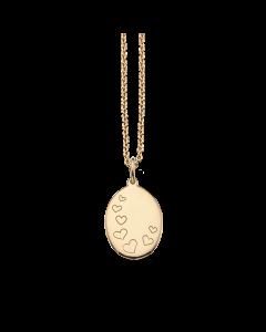 Scrouples Hjerter Amulet 8 Karat Guld Vedhæng 211353