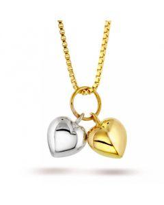 2 Hjerter 14 Karat Guld Vedhæng fra Nordlie 5714