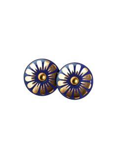 Bloom Ultramarine Gold Forgyldt Sølv Ørestikker fra Scherning