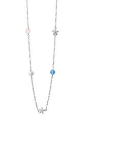 byBiehl Posy Sterling Sølv Halskæde med Perler Og Krystaller