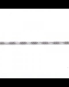 Figaro Rhodineret Sølv Ankelkæde fra Scrouples 3565,25