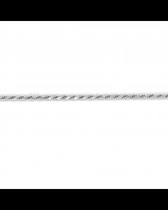 Scrouples Cordel Dobbelt Rhodineret Sølv Ankelkæde