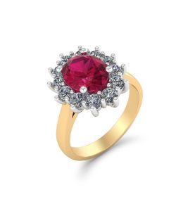 Roset Ring i 14 Karat Guld med Diamanter 0,60 Carat W/SI