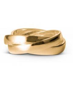 Trinity Forgyldt Sølv Ring fra Enamel R41G