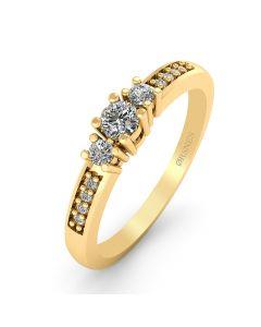 Smykkekæden 14 Karat Guld Ring med Brillanter 0,80 Carat W/SI
